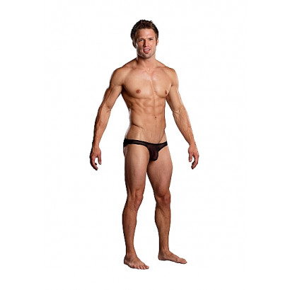 Male Power Pouch Bikini Fekete
