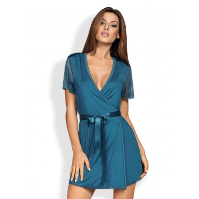 Obsessive Miamor Robe & Thong Turquoise